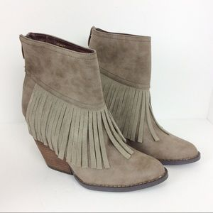 Very Volatile suede fringed booties 7